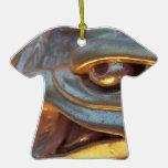 Cierre de la escultura del águila de oro para arri ornamento para reyes magos