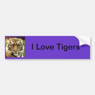 Cierre de la imagen del tigre para arriba pegatina para auto