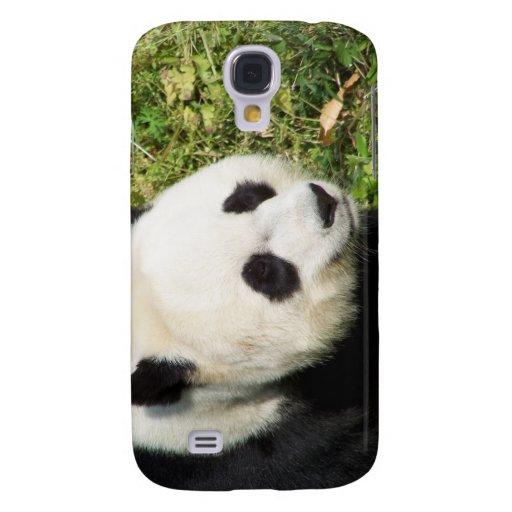 Cierre de la panda gigante encima del retrato funda para galaxy s4