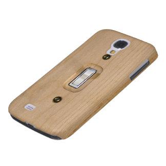 Cierre de madera de la placa del solo interruptor carcasa para galaxy s4