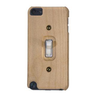 Cierre de madera de la placa del solo interruptor funda para iPod touch 5G