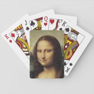 Cierre de Mona Lisa para arriba por Leonardo da Vi Cartas De Juego