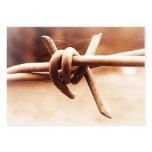 Cierre del alambre de púas de la sepia de ACEO par Plantillas De Tarjetas De Visita