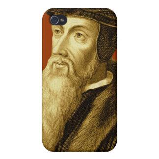 Cierre del caso de Juan Calvino iPhone4 encima de  iPhone 4/4S Carcasa