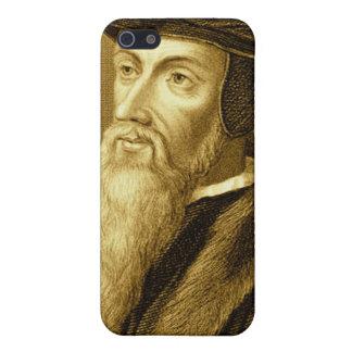 Cierre del caso de Juan Calvino iPhone4 encima de  iPhone 5 Funda