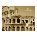 Cierre del coliseo de Roma para arriba Postal
