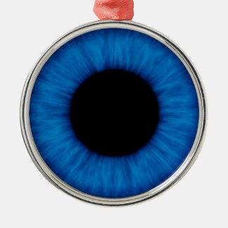 Cierre del ojo azul de Halloween para arriba Adorno Navideño Redondo De Metal