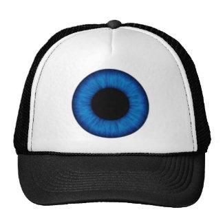 Cierre del ojo azul de Halloween para arriba Gorros