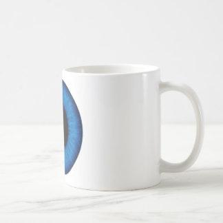 Cierre del ojo azul de Halloween para arriba Taza De Café