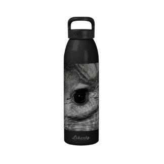 cierre del ojo de la chinchilla para arriba botella de agua reutilizable