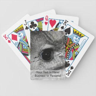 cierre del ojo de la chinchilla para arriba cartas de juego