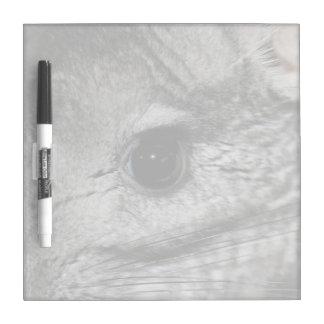 cierre del ojo de la chinchilla para arriba pizarras blancas