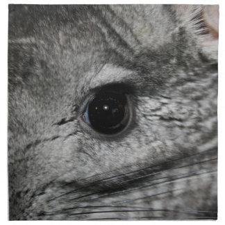 cierre del ojo de la chinchilla para arriba servilletas de papel