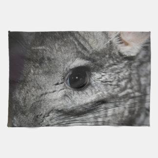 cierre del ojo de la chinchilla para arriba toallas de cocina