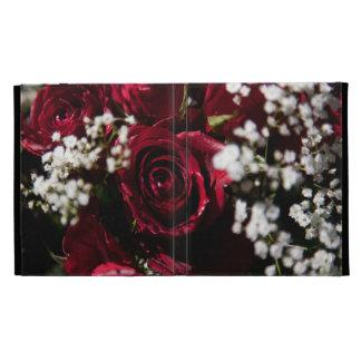 Cierre del ramo de los rosas rojos para arriba