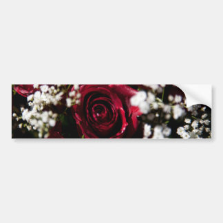 Cierre del ramo de los rosas rojos para arriba pegatina para auto