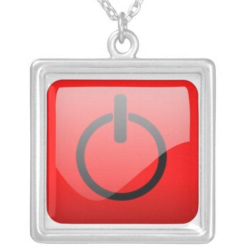 Cierre el símbolo del botón colgante cuadrado