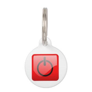 Cierre el símbolo del botón placas para mascotas