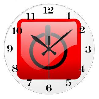 Cierre el símbolo del botón relojes de pared