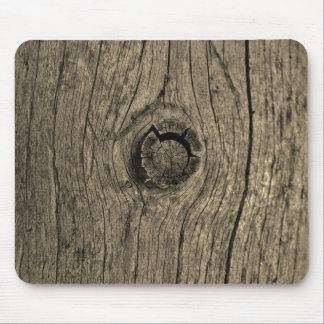 Cierre entonado sepia de madera del árbol para alfombrilla de ratón
