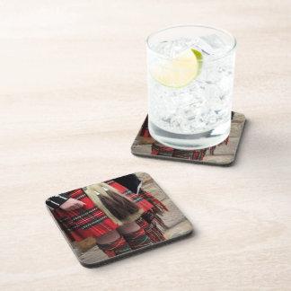 Cierre escocés del gaitero para arriba, regalo posavasos de bebidas