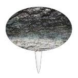 Cierre gris de la corteza de árbol para arriba que figura para tarta
