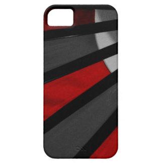 Cierre gris y rojo de la fan para arriba iPhone 5 Case-Mate cobertura