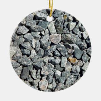 Cierre grueso de la grava del granito para arriba ornamente de reyes