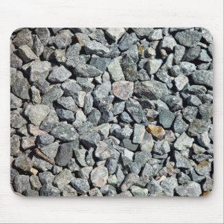 Cierre grueso de la grava del granito para arriba tapetes de raton