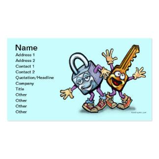 Cierre la llave de n tarjetas de visita