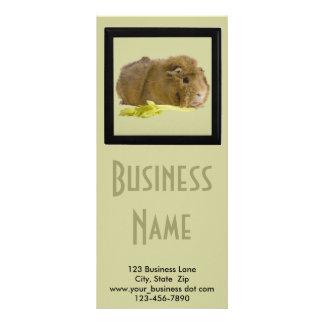 Cierre lindo del conejillo de Indias encima de la Tarjeta Publicitaria Personalizada