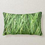 Cierre mojado real de la hierba para arriba almohada