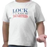 Cierre para arriba a sus hijas camisetas