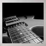 Cierre para arriba - B&W gris de la guitarra eléct Impresiones