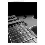 Cierre para arriba - B&W gris de la guitarra eléct Tarjeton
