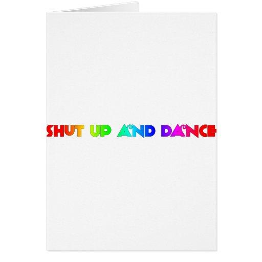 Cierre para arriba y baile tarjeta de felicitación