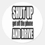 Cierre para arriba y conduzca etiqueta redonda