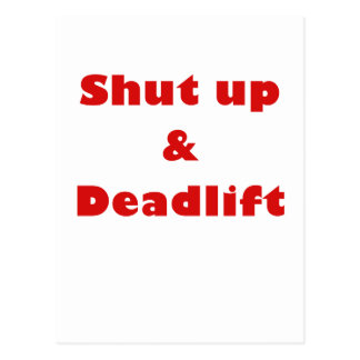 Cierre para arriba y Deadlift Tarjeta Postal