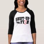 Cierre-para arriba y pesque camisetas
