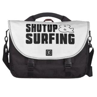 Cierre para arriba y PRACTICANDO SURF Bolsas De Ordenador