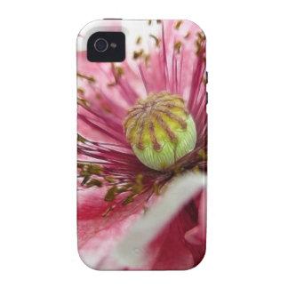 Cierre perfecto de la amapola para arriba vibe iPhone 4 fundas