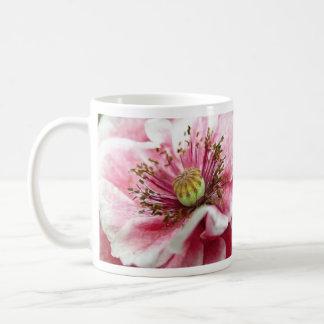 Cierre perfecto de la amapola para arriba taza de café