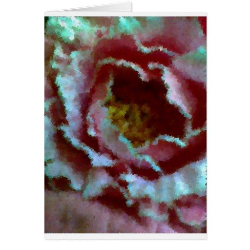 Cierre rosado del Peony para arriba Tarjetas