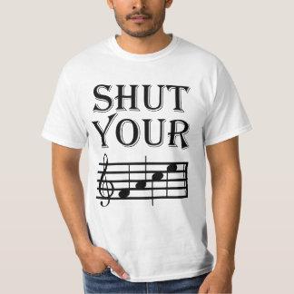 Cierre su humor de la música de la cara poleras