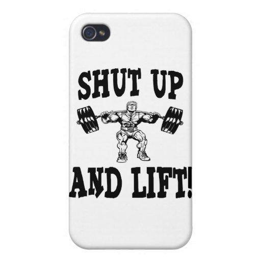 Cierre y levante el levantamiento de pesas iPhone 4 cárcasa
