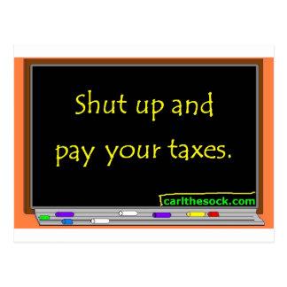 Cierre y pague sus impuestos postal