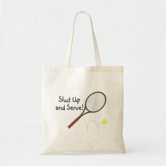 Cierre y sirva el tenis 2 bolsa tela barata