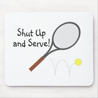 Cierre y sirva el tenis 2 mousepads