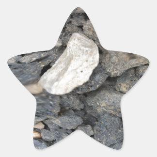 Ciérrese encima de fractal de las piedras pegatinas forma de estrellaes
