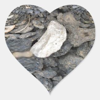 Ciérrese encima de fractal de las piedras pegatina corazón personalizadas